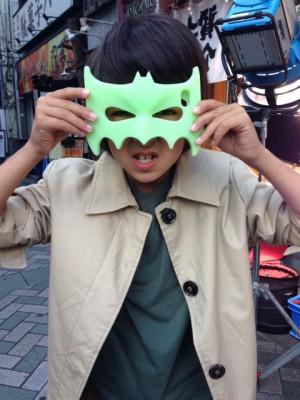 Loïc Sho Güntensperger mit Maske