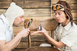 Sabrina Strehl und Theodor Plakoudakis spielen Anfall und Ente